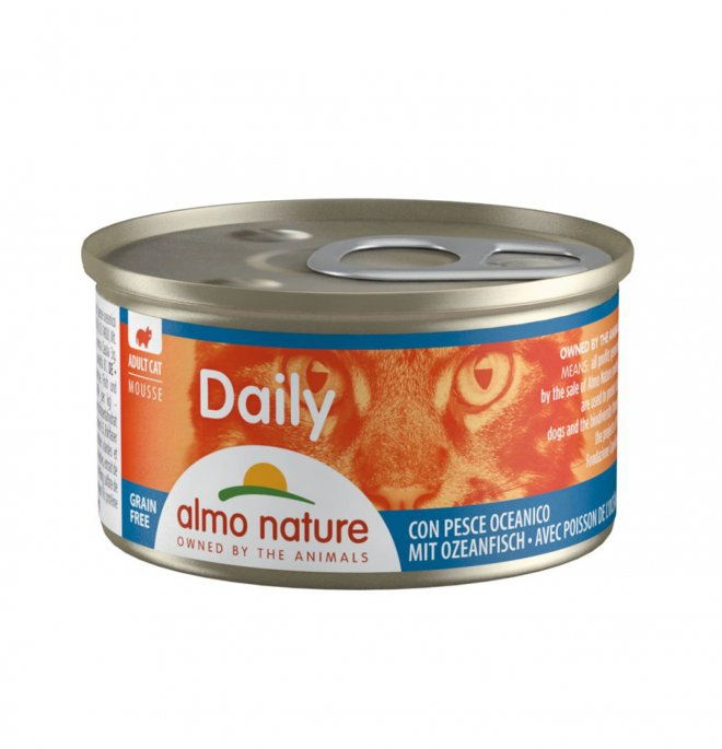 Almo nature gatto dailymenu mousse con pesce oceanico da 85 gr in lattina