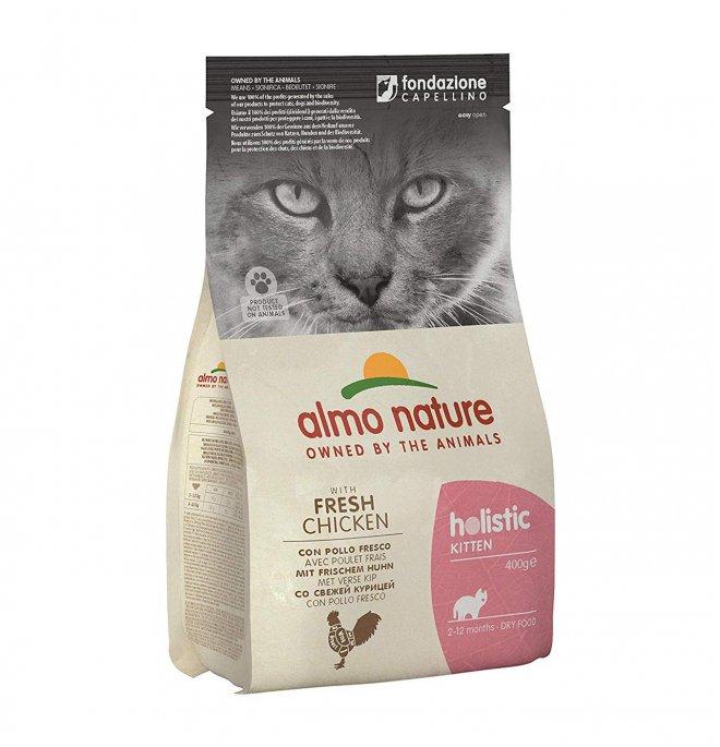Almo nature gatto holistic kitten con pollo da 400 gr