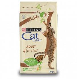 Purina chow cat gatto adult all' anatra da 1,5 kg