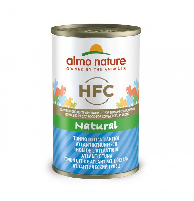 Almo nature gatto classic con tonno dell' atlantico da 140 gr in lattina