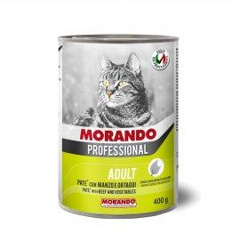 Morando miglior gatto professional pate' manzo e ortaggi da 400 gr in lattina