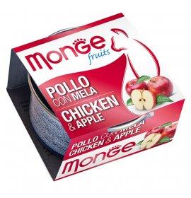 Monge gatto fruit al pollo e mela da 80 gr in lattina
