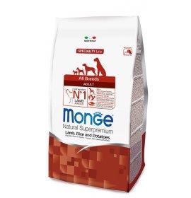 Monge superpremium cane adult all breeds agnello riso e patate da 12 kg