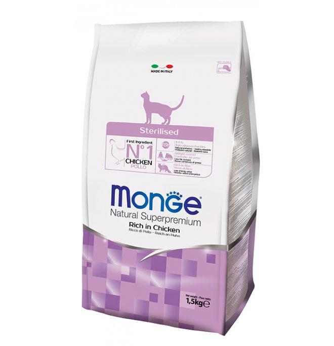 Monge superpremium gatto sterilised da 1,5 kg