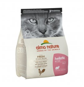 Almo nature gatto holistic kitten con pollo e riso da 2 kg