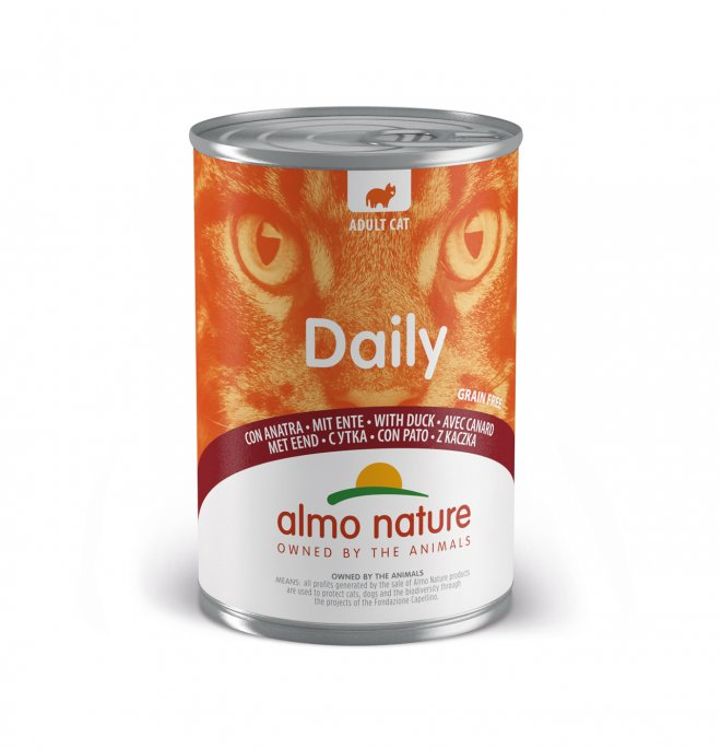 Almo nature gatto dailymenu con anatra da 400 gr in lattina