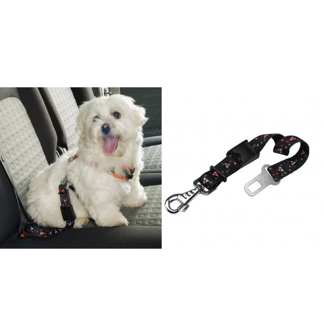 Dog safety belt nero