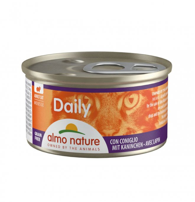 Almo nature gatto dailymenu mousse con coniglio da 85 gr in lattina
