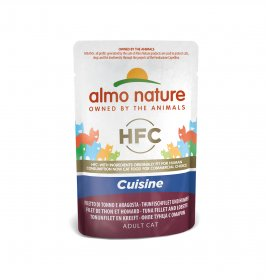 Almo nature gatto classic cuisine con filetto di tonno e aragosta da 55 gr in busta