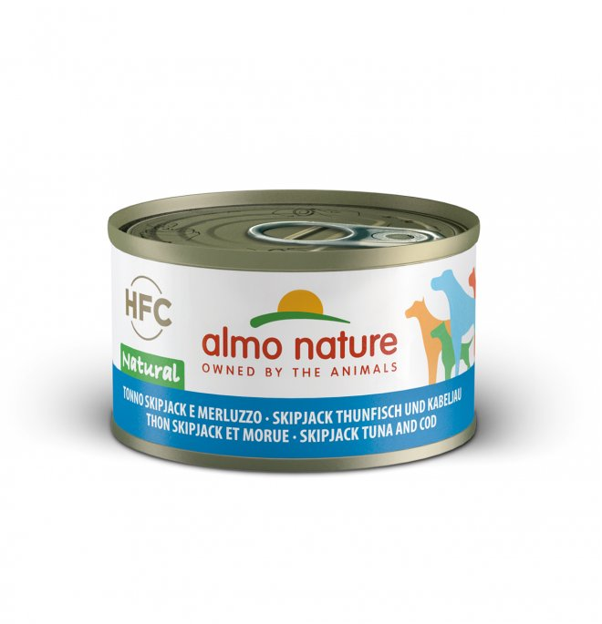 Almo nature cane classic con tonnetto e merluzzo da 95 gr in lattina