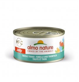 Almo nature gatto jelly con trota e tonno da 70 gr in lattina