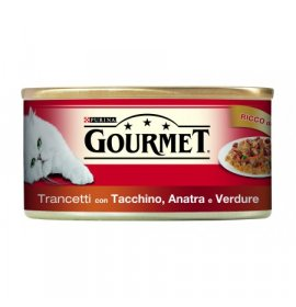 Purina gourmet gatto all' anatra tacchino e verdure da 195 gr in lattina