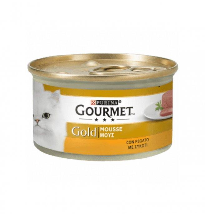 Purina gourmet gold gatto mousse al fegato da 85 gr in lattina