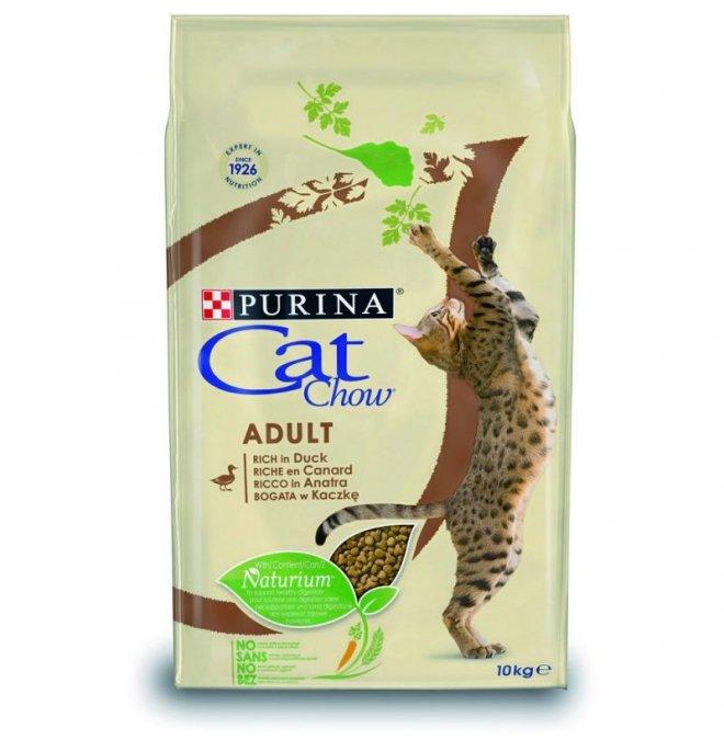 Purina chow cat gatto adult all' anatra da 10 kg