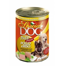 Monge cane special dog junior pate' al pollo da 400 gr in lattina