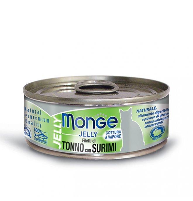 Monge gatto jelly al tonno e surimi da 80 gr in lattina