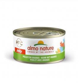 Almo nature gatto jelly con pollo e ananas da 70 gr in lattina