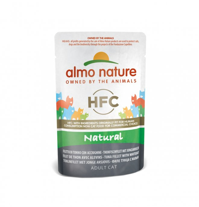 Almo nature gatto classic nature con filetto di tonno con acciughine da 55 gr in busta