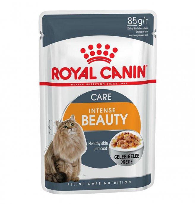Royal canin gatto intense beauty jelly da 85 gr in busta