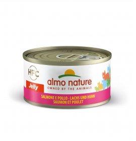 Almo nature gatto jelly con salmone e pollo da 70 gr in lattina
