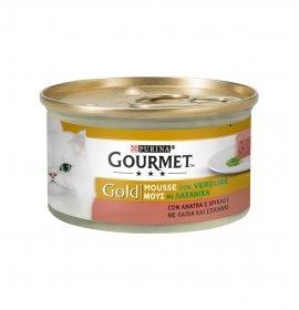 Purina gourmet gold gatto all' anatra carote e spinaci da 85 gr in lattina