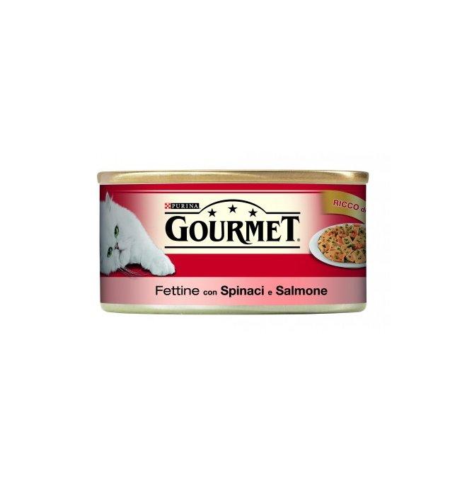 Purina gourmet gatto al salmone e spinaci da 195 gr in lattina