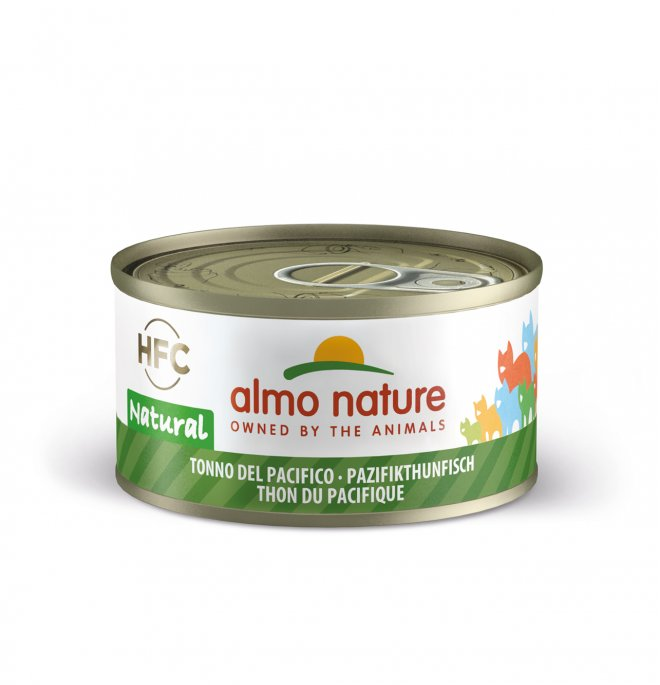 Almo nature gatto natural con tonno del pacifico da 70 gr in lattina