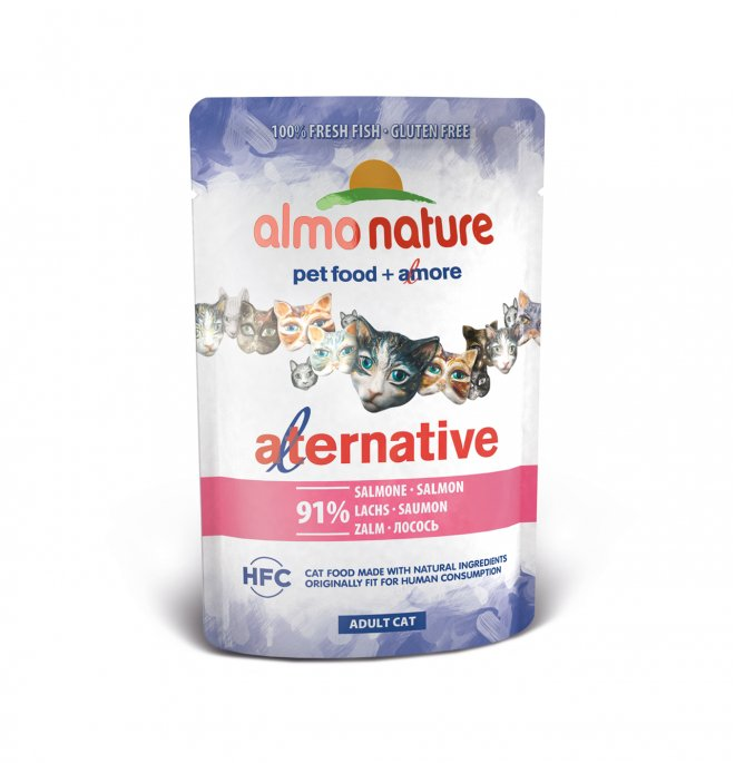 Almo nature gatto alternative con salmone da 55 gr in busta