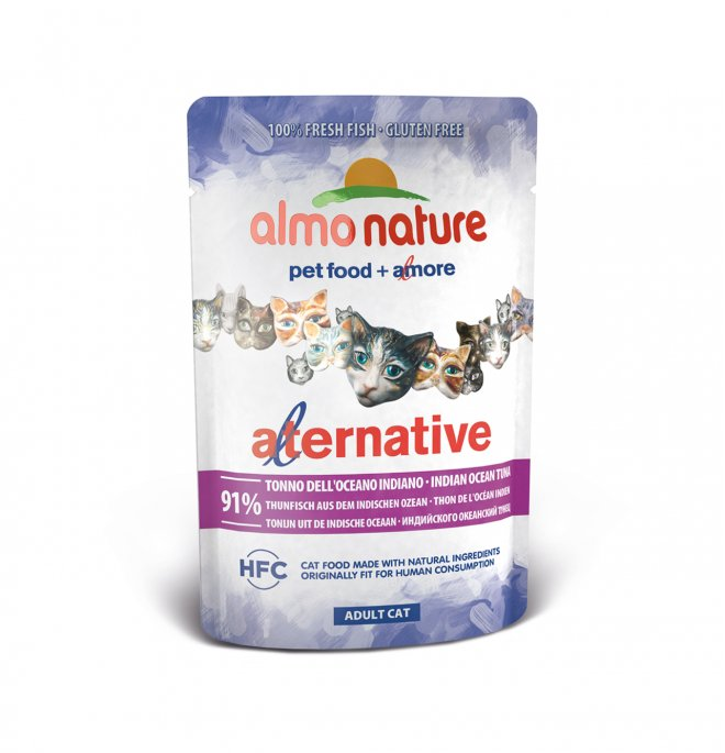 Almo nature gatto alternative hfc con tonno indiano da 55 gr in busta