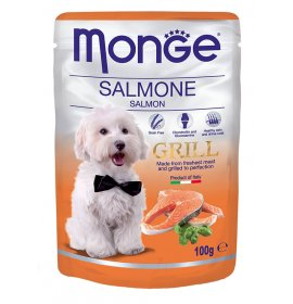 Monge cane grill al salmone da 100 gr in busta