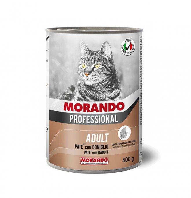 Morando miglior gatto professional pate' coniglio da 400 gr in lattina
