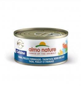 Almo nature gatto cuisine con tonno pollo e formaggio da 70 gr in lattina