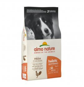 Almo nature cane holistic adult medium con riso e pollo da 12 kg