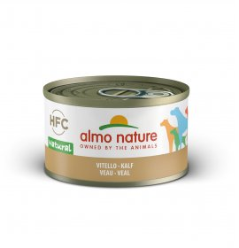 Almo nature cane classic con vitello da 95 gr in lattina