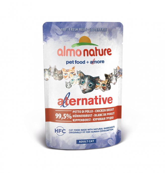 Almo nature gatto alternative hfc con petto di pollo da 55 gr in busta