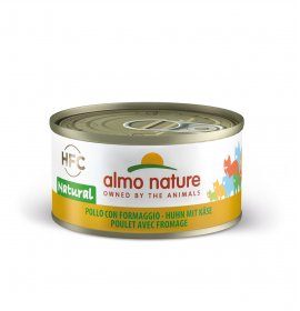 Almo nature gatto natural con pollo e formaggio da 70 gr in lattina