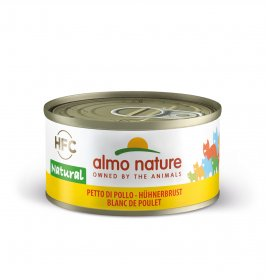 Almo nature gatto natural con petto di pollo da 70 gr in lattina