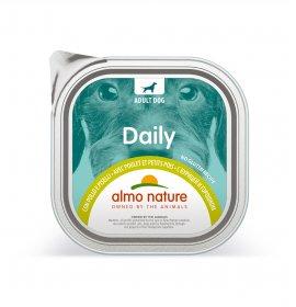 Almo nature cane dailymenu con pollo e piselli da 300 gr in vaschetta