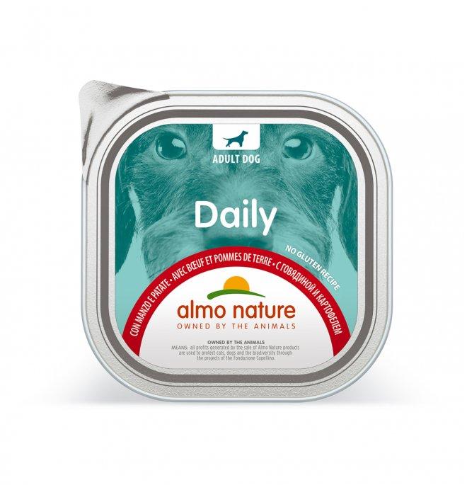 Almo nature cane dailymenu con manzo e patate da 300 gr in vaschetta