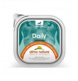 Almo nature cane dailymenu con vitello e carote da 300 gr in vaschetta