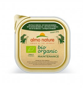 Almo nature cane dailymenu bio con pollo e broccoli da 300 gr in vaschetta