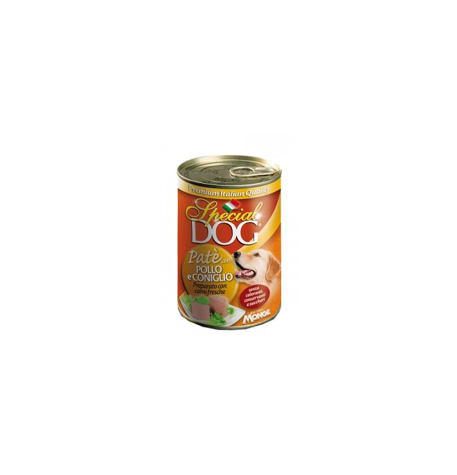 Monge cane special dog pate' al pollo e coniglio da 400 gr in lattina