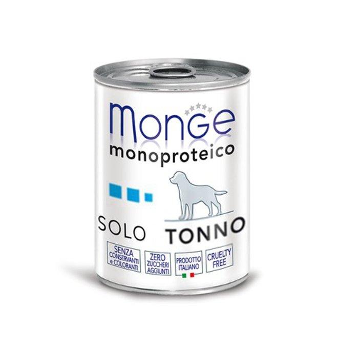 Monge cane monoproteico solo tonno da 400 gr in lattina
