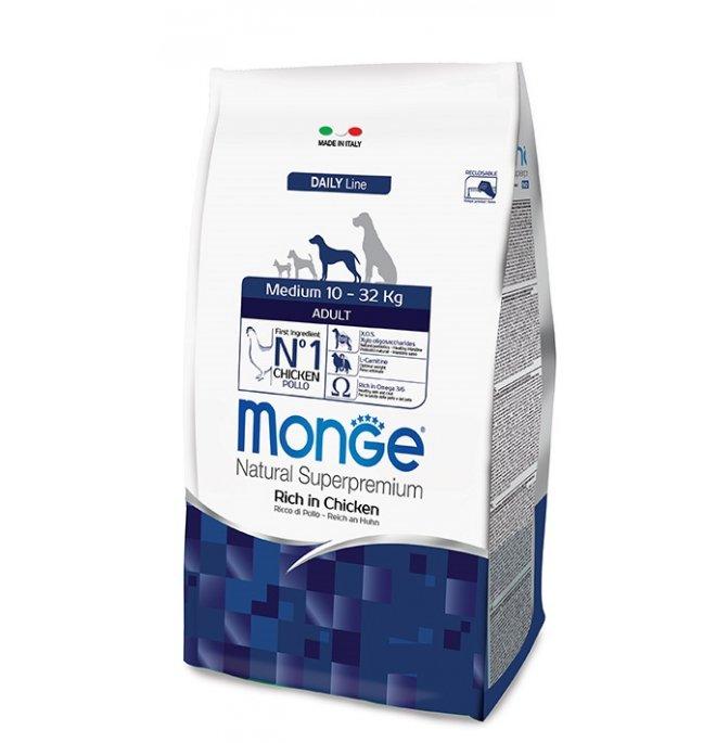 Monge superpremium cane adult medium da 12 kg