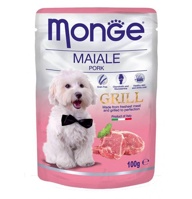 Monge cane grill al maiale da 100 gr in busta