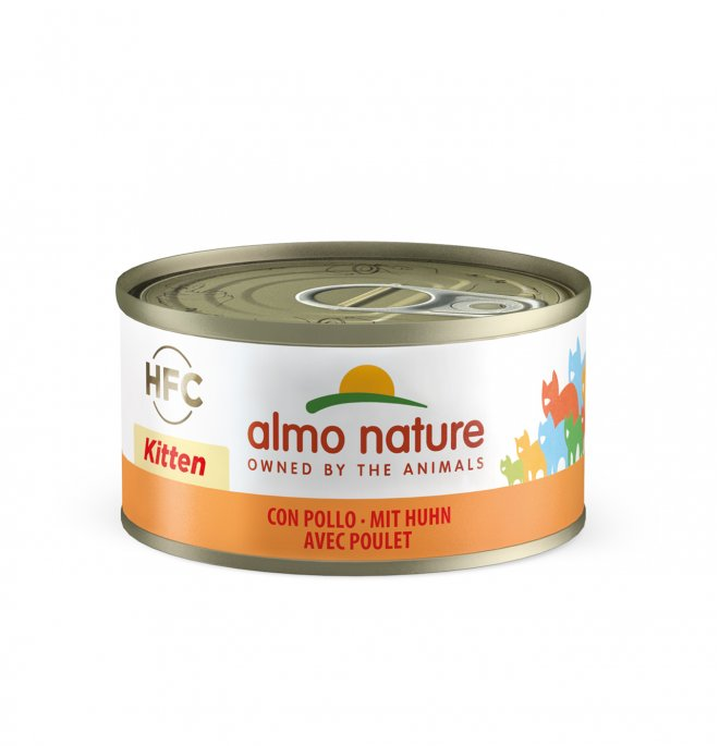 Almo nature gatto kitten con pollo da 70 gr in lattina