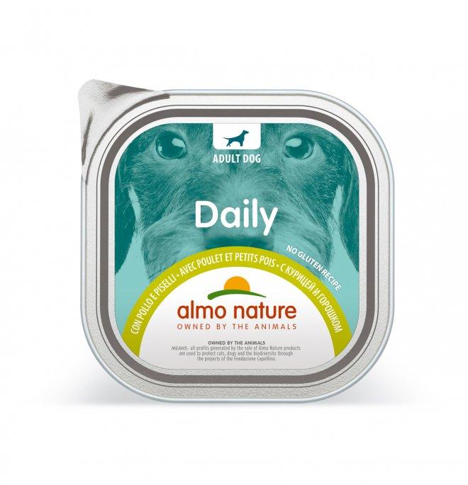 Almo nature cane dailymenu con pollo e piselli da 100 gr in vaschetta