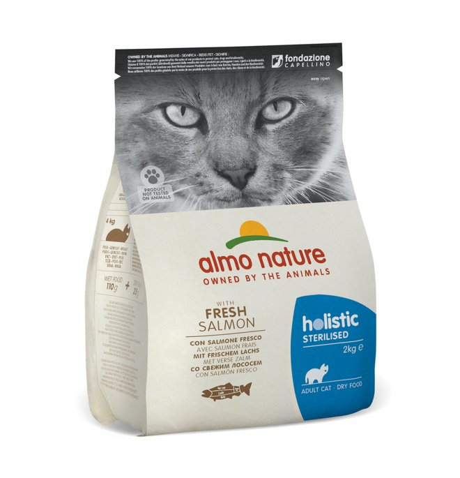 Almo nature gatto functional adult sterelised con salmone e riso da 2 kg