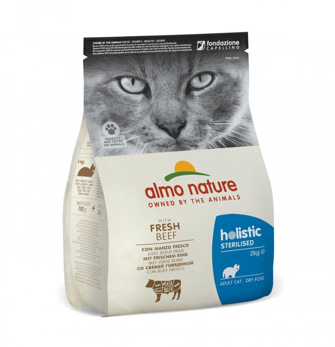 Almo nature gatto functional adult sterelised con manzo e riso da 2 kg