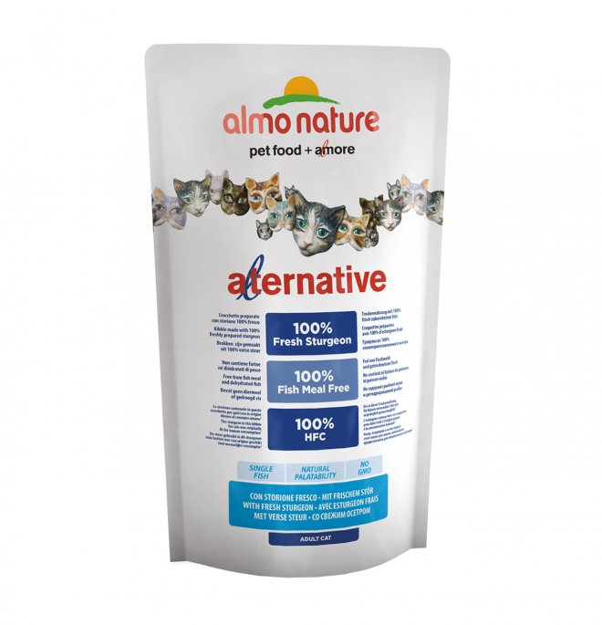 Almo nature gatto alternative hfc con storione e riso da 750 gr